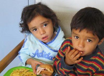 Kids in the nutrition program in Reynosa