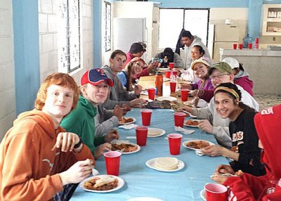 A team having a delicious meal in Reynosa