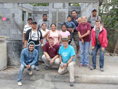 A mission work group finishing a house in Reynosa