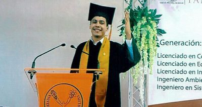 Raul graduating from college in Reynosa