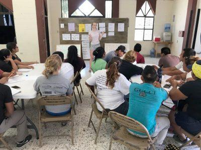 Our summer intern Lizzy teaching English in Reynosa