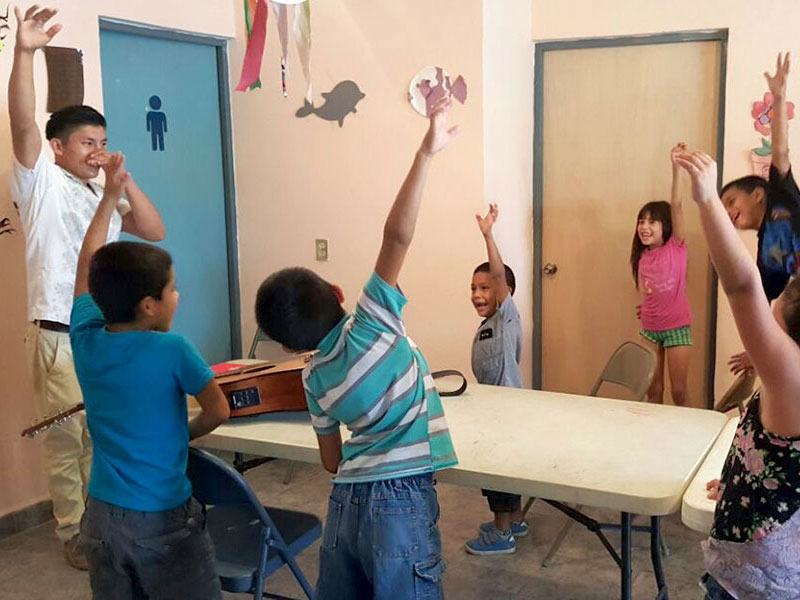 Kids at Vacation Bible School in Miguel Aleman