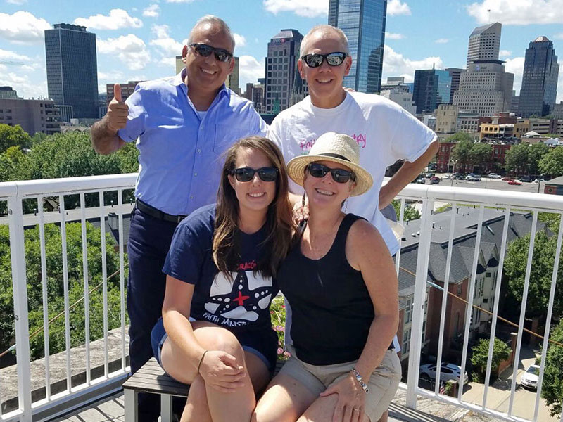 David and Colleen visiting with friends in Indianapolis