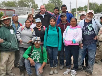 Friends from the US and Mexico working together in Reynosa