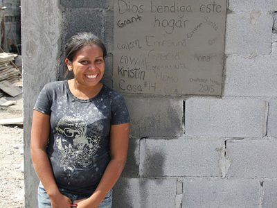 A happy homeowner Tina in Reynosa